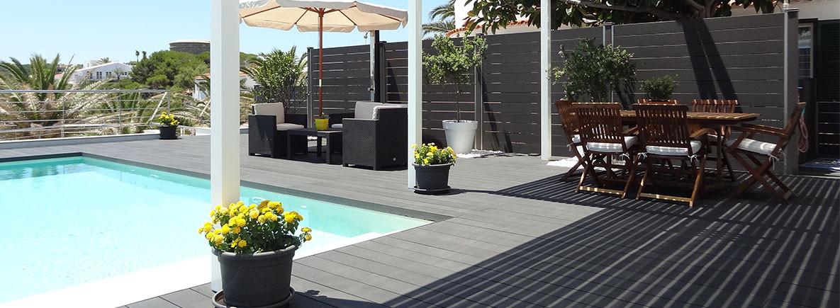 Tarima sintetica madera exterior terraza piscina neoture for Terraza madera exterior